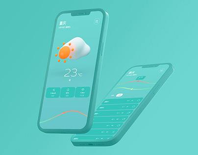JIGU Weather APP UI Design