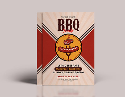 BBQ Party Flyer Template