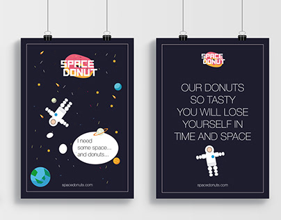 """SPACE DONUT"" donut bar logo and design"