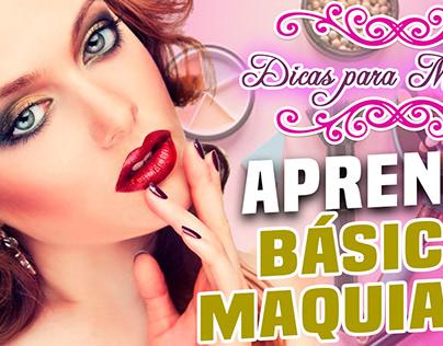 Thumbnail YouTube: Aprenda o básico de maquiagem