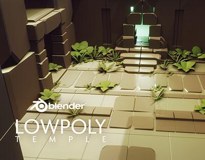 low poly aztec temple ruins - blender 3d