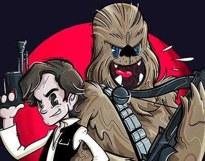 Han + Chewie!