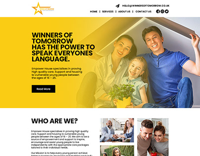 Website Design For Winners of Tomorrow