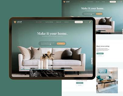 Leaf: design for the furniture website