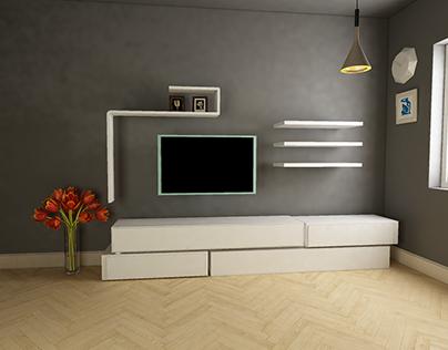 television unit design & produced