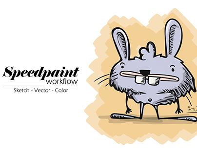 Speedpaint - Workflow - From idea to creation - Rabbit