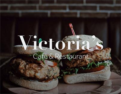 Cafe web design mock