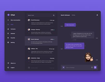 💬 Chat - Inbox. The inbox section of chat app.