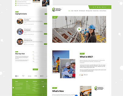 Construction Industry Website Landing Page