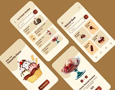 Ice Cream Shop App Design