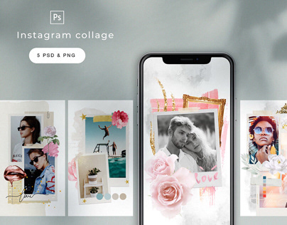 instagram stories template/collage