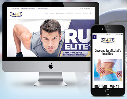 Elite Therapy & Fitness Website & Logo Design