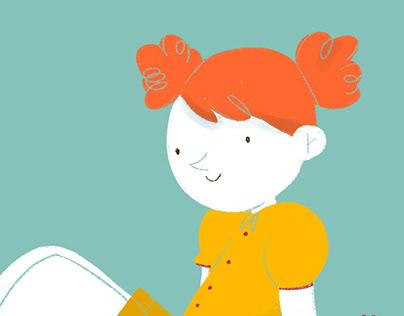 Romantic Girl - Children's Illustration