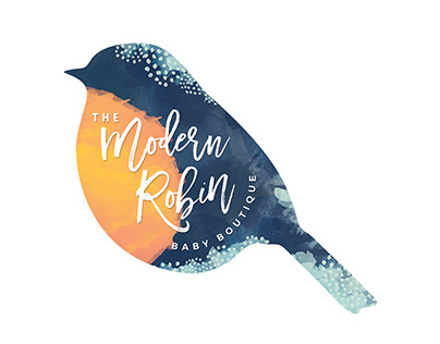 Modern Robin, Branding for a Baby Boutique