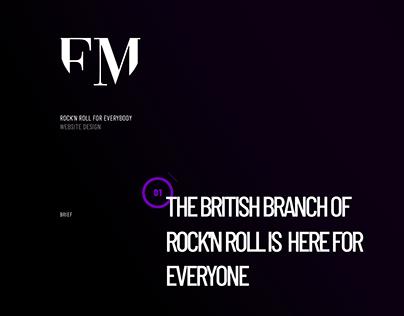 FM British Rockband Website Redesign