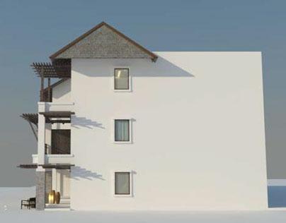 Luxury Resort building design study: 12 keys apartment