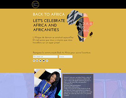 Back to Africa Website Design