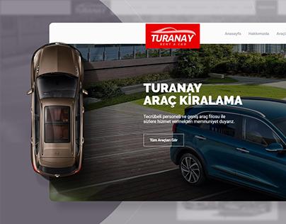 Turany Rent a Car Website Design