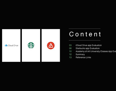 UX Research : iCloud, Starbucks, Academy of Art Uni.
