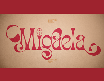 MIGAELA REGULAR - FREE CHRISTMAS FONT
