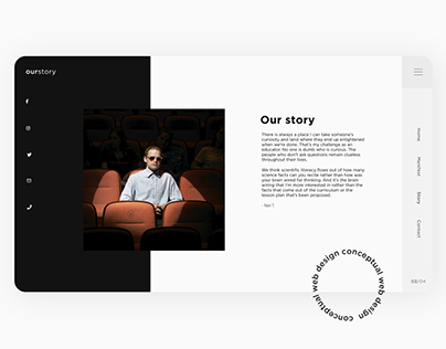 Ourstory - Animated web design