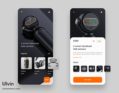 UI/UX E-commerce HDR Camera app design