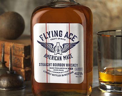 Flying Ace Whiskey Packaging Design & Logo