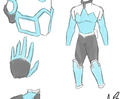 Costume Concept Art for Flash Freeze