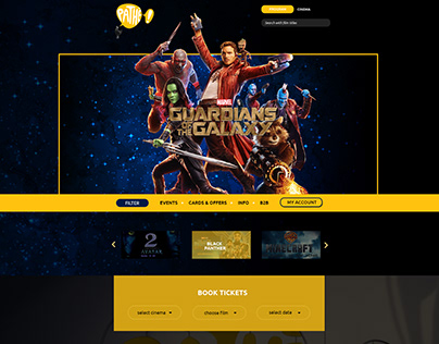Pathé Film Company Website Redesign