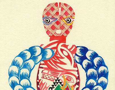 "Book Illustrarion ""Ningyo-Dosojin"" in Akita"