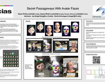 Secret Passageways with Avatar Faces (Unity + MoCap)