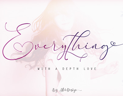 Everything - Calligraphy Font