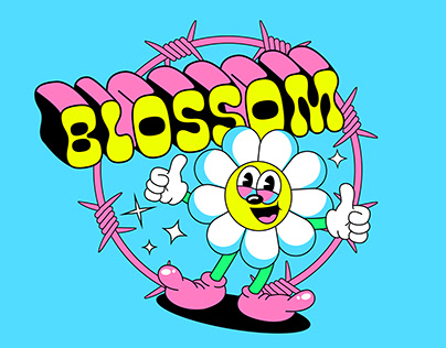 T-shirt streetwear design for Blossom