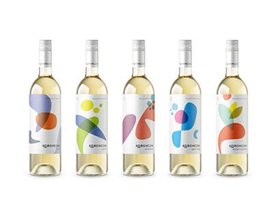 Koronczai Winery - branding & wine label design