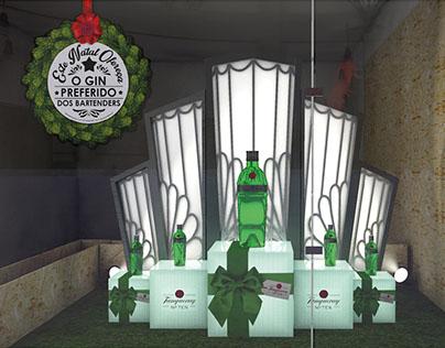 Montra de Natal Tanqueray