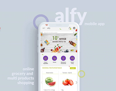 alfy online multi product shopping | UI & UX design