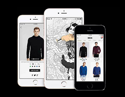 Mobile App GUI Design for Elegantwear