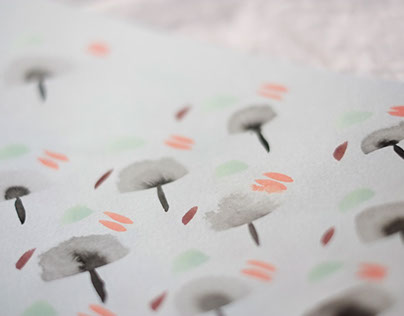 Abstract Watercolor Patterns