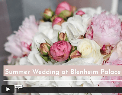 Slideshow video created for a Wedding Planner company