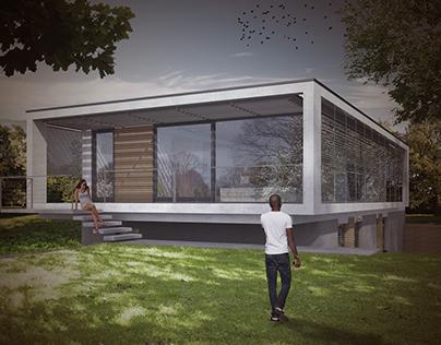 Rajz 8 - D építészeti kollázs