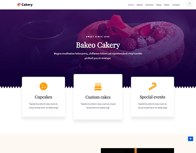CAKE SHOP WEBSITE
