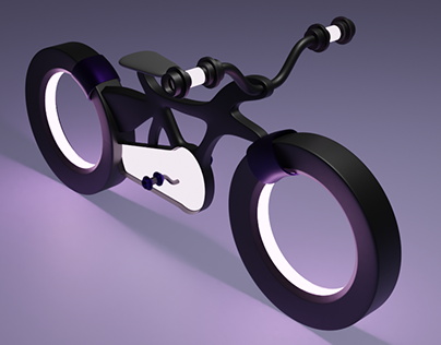 3D Electric Bicycle in Blender.