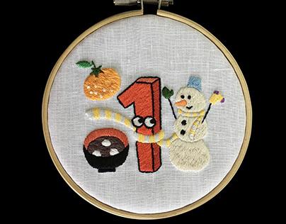 12ヶ月の刺繍2020年/12 Months Embroidery 2020