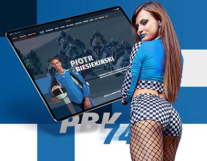 PBK74 - website for motorcycle rider moto2