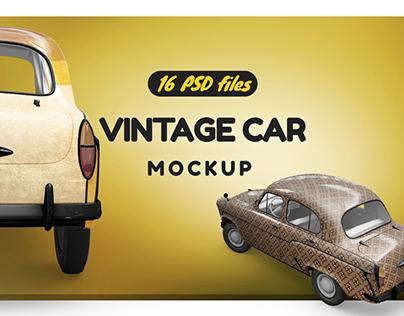 Vintage Car Mockup