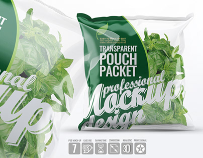 Transparent Pouch Packet Mock-Up