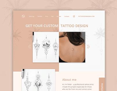 Website - Get your custom tattoo design