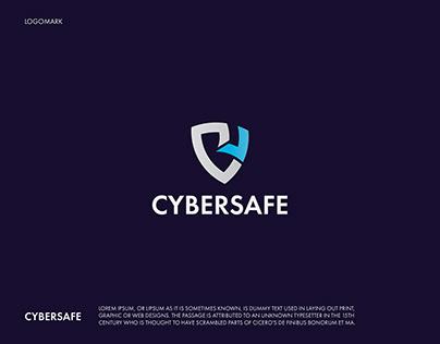 C letter,Cyber logo, Security logo,