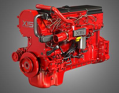 X15 Truck Engine - Efficeiency Series 3D model