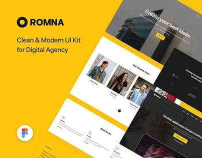 Romna - UI Kit for Figma